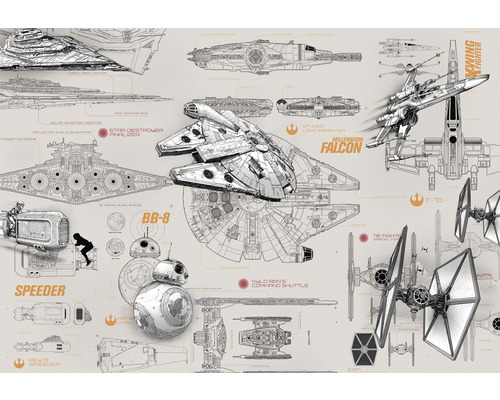 Fototapete Disney Edition 2 STAR WARS BLUEPRINTS 368 x 254 cm