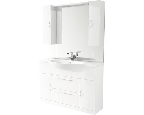 Badmöbel-Set Baden Haus Bahia 120 185,25x121x50 cm weiß hochglanz