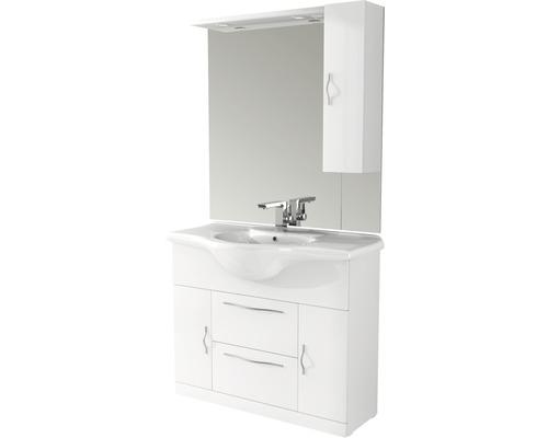 Badmöbel-Set Baden Haus Bahia 105 185,25x105x50 cm weiß hochglanz