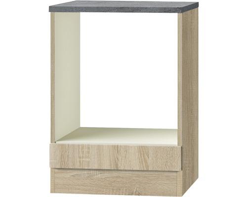 Herdumbauschrank Optifit Neapel Nachbildung eiche-hell sägerau 60x84,8x60 cm