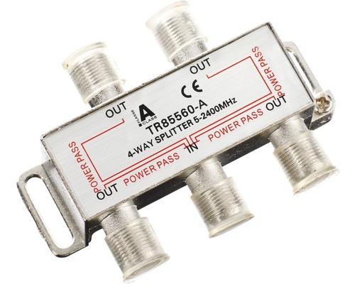 SAT-Verteiler 4-fach mit F-Stecker