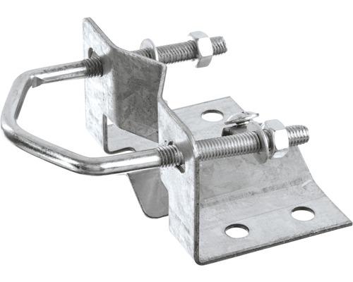 Mastfußschelle, Stahl verzinkt, für Rohre mit Ø max. 60 mm