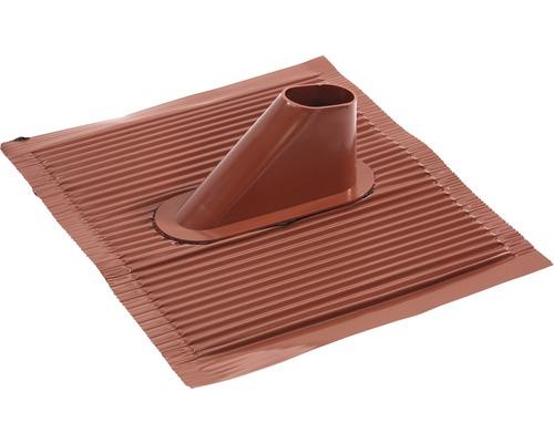 Alu-Dachziegel ziegelrot für Masten bis Ø 60 mm