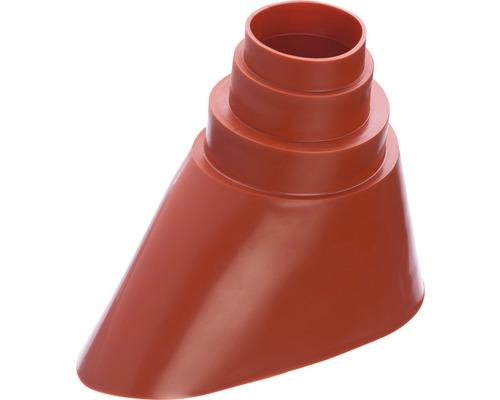 Gummitülle universal für Masten ziegelrot