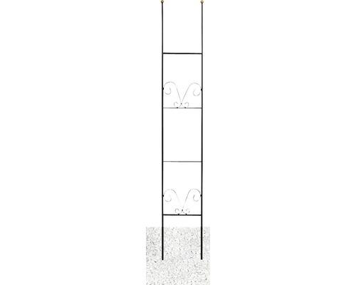 Zierspalier Lydie Stahl H 150 cm schwarz-gold