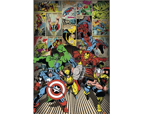 Poster Marvel - here come the heroes 61x91,5 cm