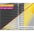 Soluna Alu-Jalousie mit Dim-Out-Funktion schwarz 100x170 cm mit 20% mehr Lamellen zur besseren Verdunkelung