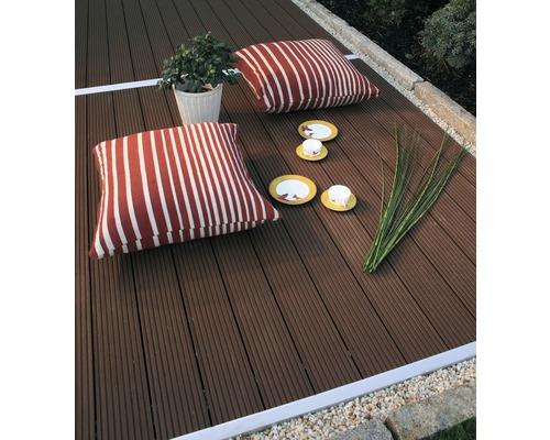 WPC Terrassendielen Set Konsta braun 9 m² inkl. WPC Terrassendielen, Unterkonstruktion und Montagematerial