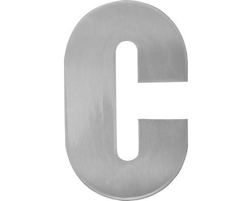 Hausnummer Edelstahl satiniert Buchstabe c, inkl. Befestigungsmaterial