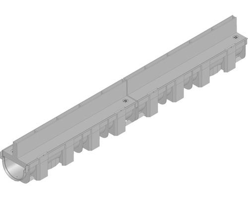 Hauraton TOP X Kunststoffrinne aus PP mit Schlitzabdeckung aus Kunststoff 1000 x 119 x 147 mm