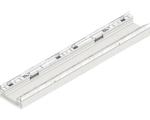 Hauraton Faserfix KS 100 Rinnenunterteil flach Typ 80 aus faserbewehrtem Beton 1000 x 160 x 80 mm