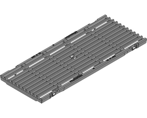 Hauraton Faserfix KS 150 Guss Längsstabrost KTL beschichtet 500 x 199 x 20 mm