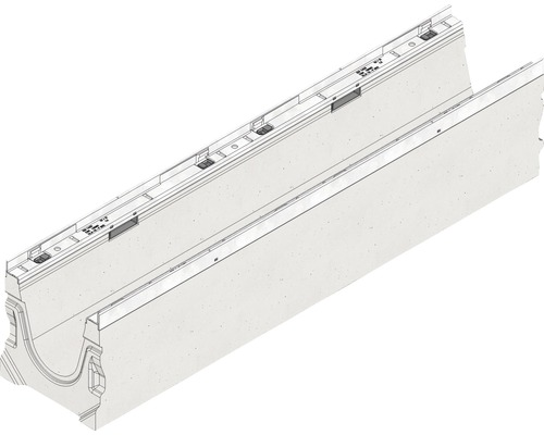 Hauraton Faserfix KS 150 Rinnenunterteil Typ 01 aus faserbewehrtem Beton 1000 x 210 x 220 mm