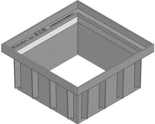 RECYFIX POINT Aufsatzstück 300x300x120 mm Grau