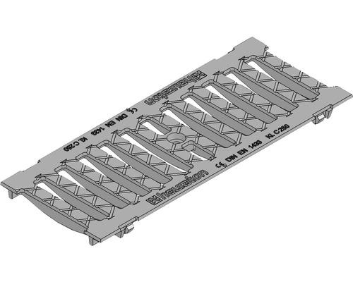 Hauraton Faserfix KS 150 Gussrost mit horizontaler Schubsicherung SW 132/20 500 x 199 x 20 mm Klasse C 250