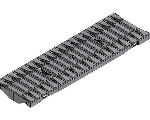 Hauraton Recyfix PRO/KS 100 Fibretec Stegrost SW 9 mit horizontaler Schubsicherung u. Arretierung 500 x 149 x 20 mm