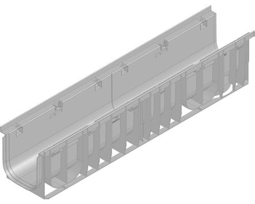 Hauraton Recyfix PRO 150 Rinnenunterteil Typ 01 aus PP 1000 x 212 x 210 mm