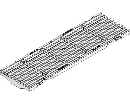 FASERFIX KS 100 D400 Guss-Längsstabrost verzinkt schwarz 20x149x500 mm