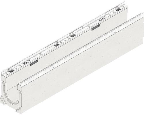 Hauraton Faserfix KS 100 Rinnenunterteil Typ 010 aus faserbewertem Beton 1000 x 160 x 214 mm