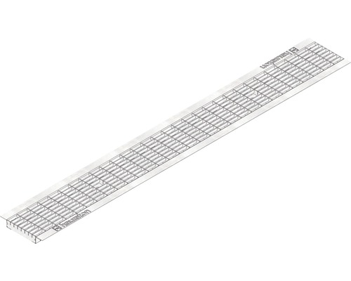 Hauraton Faserfix/Recyfix Standard 100 Gitterrost MW 30/10 verzinkt 1000 x 137 x 5 mm