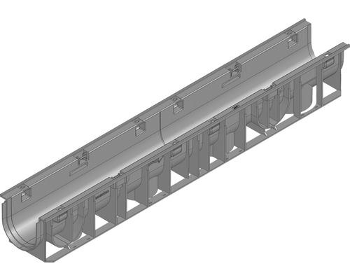 Hauraton Recyfix Standard 100 Entwässerungsrinne Unterteil Typ 01 aus PP 1000 x 150 x 134 mm