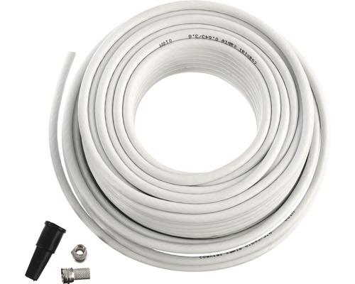 Koaxialkabel-SET Typ R59, 20 Meter Kabel