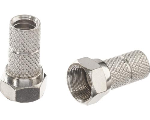 F-Stecker, für Kabel mit Durchmesser 6,1 mm, 2er Packung