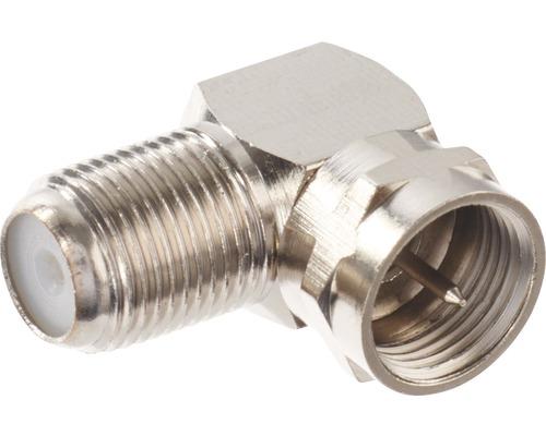 F-Winkeladapter (F-Stecker / F-Buchse)