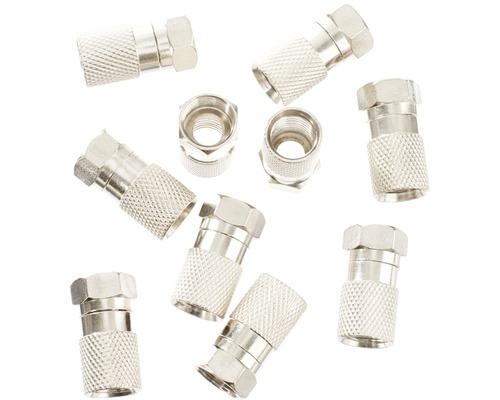 F-Stecker, für Kabel mit Durchmesser 8,0 mm, 10er Packung