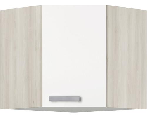 Eck-Hängeschrank Optifit Genf weiß 60x57,6x34,6 cm