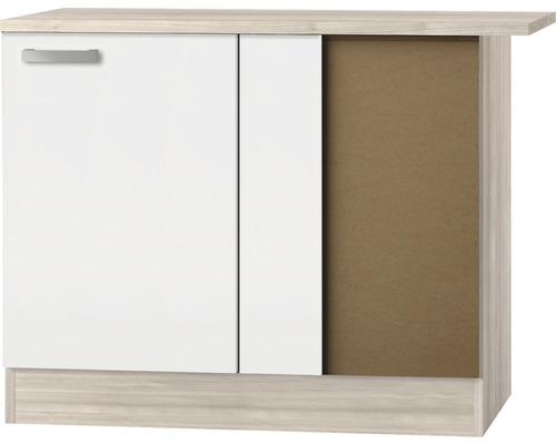 Eck-Unterschrank Optifit Genf weiß 100x84,8x60 cm