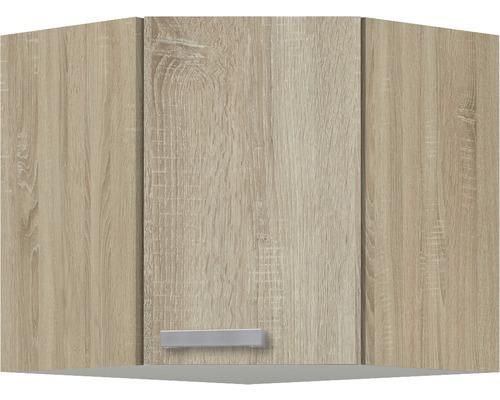 Eck-Hängeschrank Optifit Neapel Nachbildung eiche-hell sägerau 60x57,6x34,6 cm