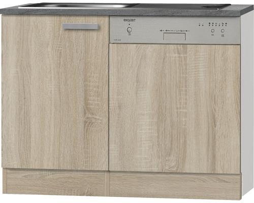 Spülenunterschrank Optifit Neapel Nachbildung eiche-hell sägerau 110x84,8x60 cm