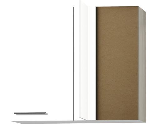 Eck-Unterschrank Optifit Peer weiß hochglanz 85x70,4x34,9 cm