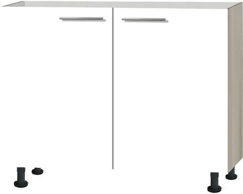 Spülenschrank Optifit Peer weiß hochglanz 100x87x58,4 cm