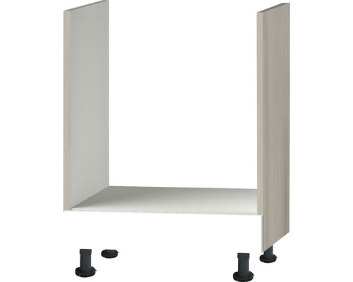Herdumbauschrank Optifit Peer weiß hochglanz 60x87x58,4 cm