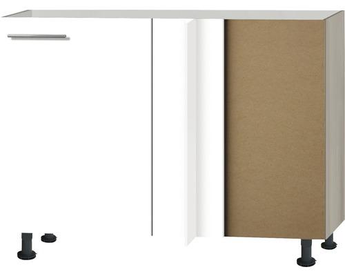 Eck-Unterschrank Optifit Peer weiß hochglanz 100x87x58,4 cm