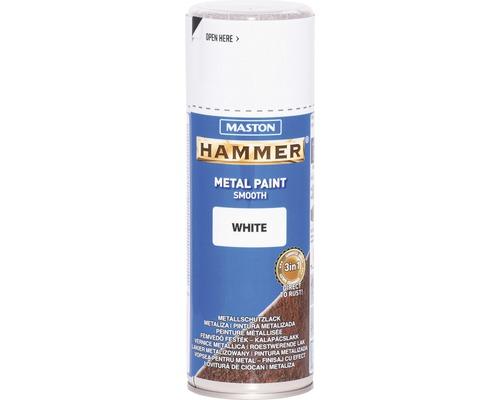 Metallschutz Spray Maston Hammer glatt weiß 400 ml