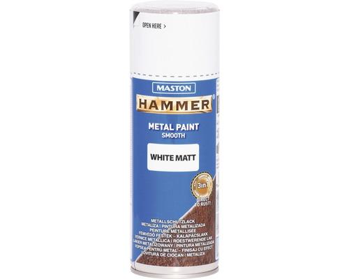 Metallschutz Spray Maston Hammer matt weiß 400 ml