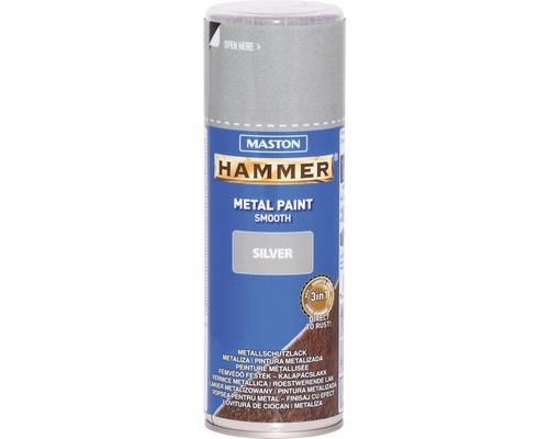 Metallschutz Spray Maston Hammer glatt silber 400 ml