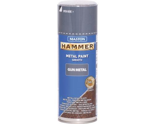 Sprühlack Maston Hammer Gun Metal smooth Metallschutz grau 400 ml