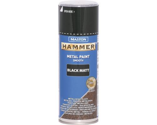 Metallschutz Spray Maston Hammer matt schwarz 400 ml