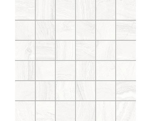 Feinsteinzeugmosaik Varana Blanco 30x30 cm