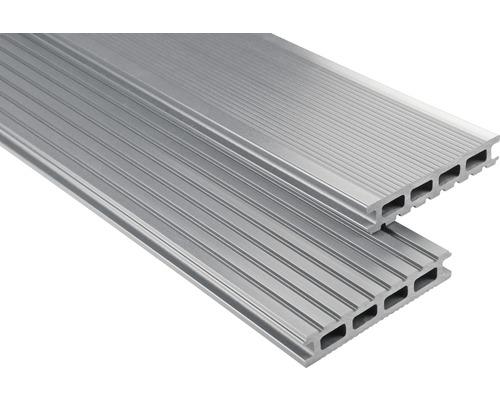 WPC Terrassendiele Konsta Primera grau glatt 26x145x4000 mm