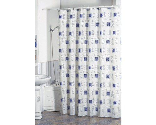 Duschvorhang blaumotiv 180x200 cm