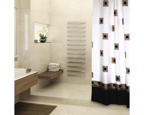 Duschvorhang Quadrate schwarz-braun 180x200 cm