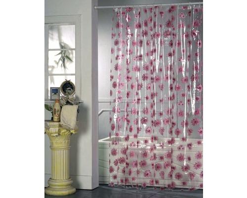 Duschvorhang Blumen rosa 180x200 cm