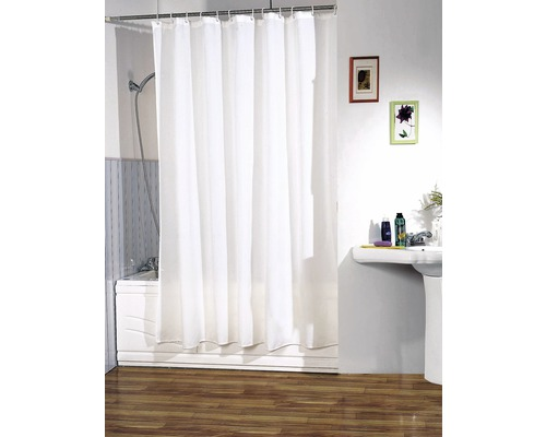 Duschvorhang weiß 120x200 cm 120x200 cm