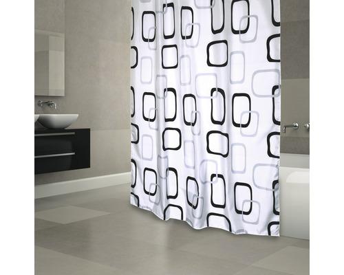 Duschvorhang schwarz-blau 180x200 cm