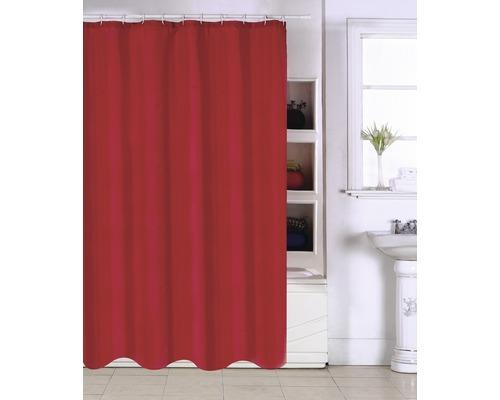 Duschvorhang rot 180x200 cm